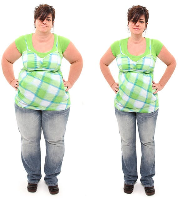Массаж для похудения — до и после